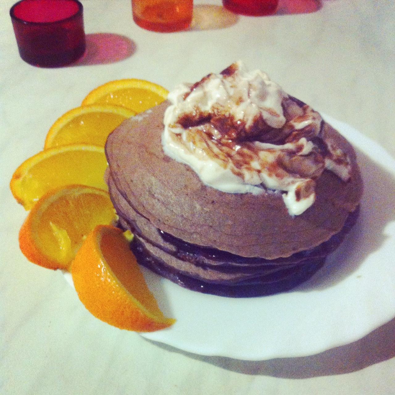 Kakaová palacinková mini torta
